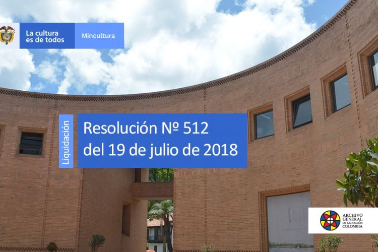 resolución 512 del 19 de julio de 2018